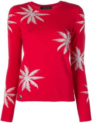Philipp Plein floral embroidered sweater