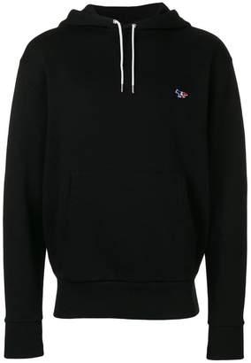 MAISON KITSUNÉ logo embroidered hoodie