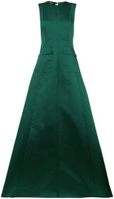 Rochas flared evening gown