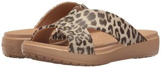 Crocs - Sloane Graphic Xstrap Women's Sandals $35 thestylecure.com