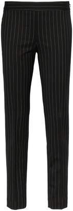 Moschino high-waisted skinny pinstripe trousers