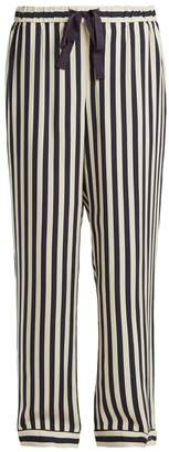 Morgan Lane - Ryan Striped Pyjama Trousers - Womens - Navy Stripe