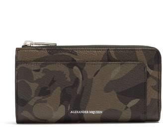 Alexander McQueen Camouflage-print leather wallet