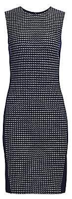 St. John Women's Dotted Tweed Sleeveless Sheath Dress - Size 0