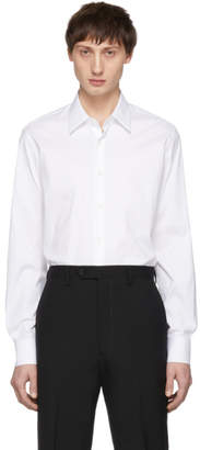 Prada White Stretch Poplin Shirt
