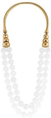 Aurelie Bidermann Oversized Beaded Collar Necklace