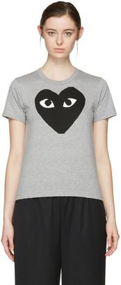 Comme des Garçons Play Grey Big Heart T-Shirt $120 thestylecure.com