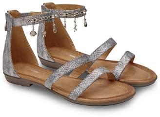 5e0ddc44a10 Joe Browns - Metallic  Ocean Charms  Flat Gladiator Sandals