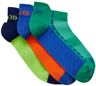 John Lewis & Partners Children's Fashion Sports Trainer Sock Liners, Pack of 3, Multi
