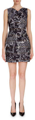 Roland Mouret Foxley Sleeveless Paisley-Print Dress
