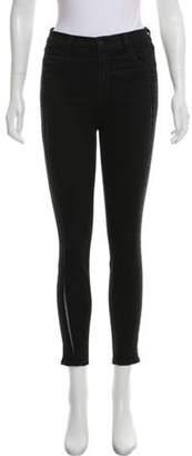 J Brand Mid-Rise Alana Lace Jeans Black Mid-Rise Alana Lace Jeans