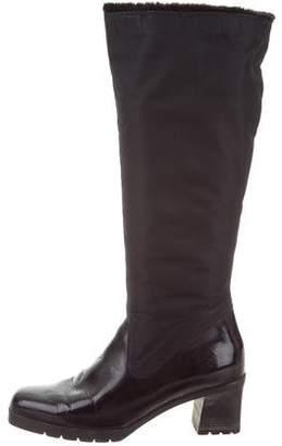 Aquatalia Nylon Knee-High Boots
