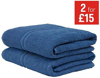 ColourMatch Pair of Bath Towels - Ink Blue