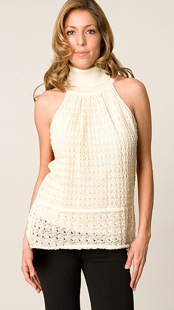 Catherine Malandrino Dune Sleeveless Turtleneck Top