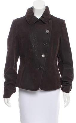 Armani Collezioni Textured Button-Up Jacket