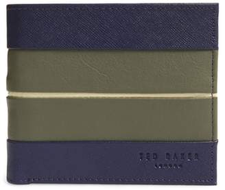 Ted Baker Striped Leather Bifold Wallet