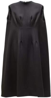 The Row Isandra Wool Blend Cocoon Dress - Womens - Black