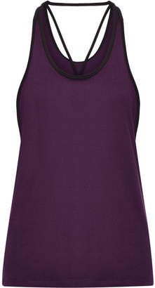 adidas Performer Climalite Cutout Stretch Tank - Burgundy