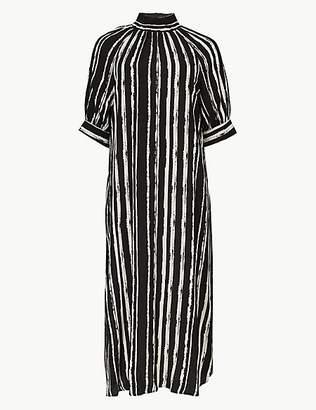 M&S Collection Striped Shift Midi Dress