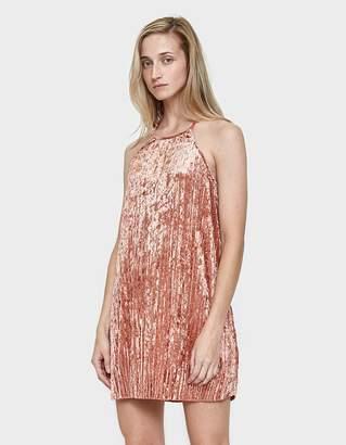 Farrow Courtney Velvet Slip Dress in Terra
