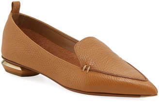 Nicholas Kirkwood Pebbled Leather Point-Toe Loafer