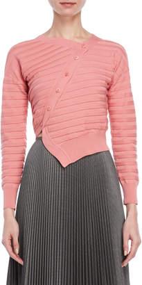 Cédric Charlier Asymmetric Button Sweater