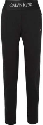 Calvin Klein Stretch-jersey Track Pants - Black