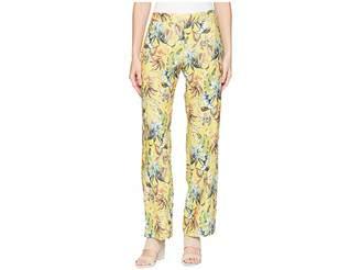 Elliott Lauren Printed Linen Elastic Waist Relaxed Pants with Pockets Women's Casual Pants