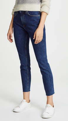 Rag & Bone High Rise Rigid Ankle Skinny Jeans