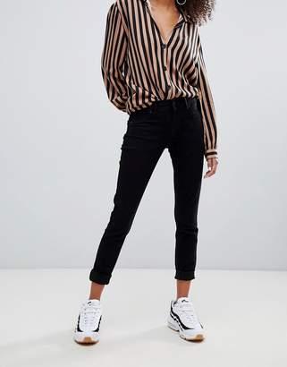 Bershka push up jeans in black