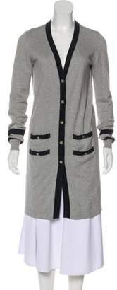 Chanel Longline V-Neck Cardigan Grey Longline V-Neck Cardigan