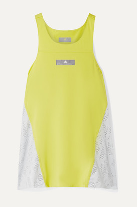 adidas by Stella McCartney Running Loose Mesh And Cotton-jersey Tank - Sage green