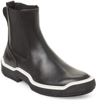 Bottega Veneta Black Stripe Leather Ankle Boots