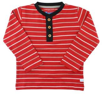 RuggedButts Red Stripe Long Sleeve Henley Tee (Baby, Toddler, & Little Boys)
