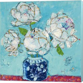DAY Birger et Mikkelsen Metaverse Vase Of Peonies Aqua By Kellie Canvas Art