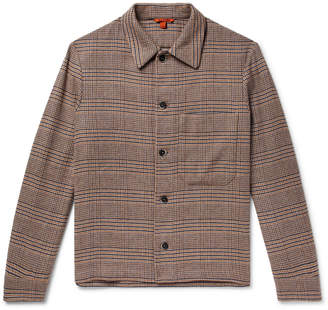 Barena Checked Linen-Blend Shirt Jacket