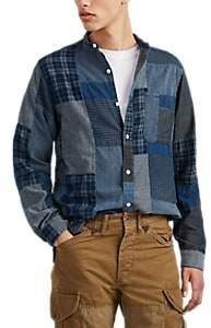 RRL Men's Patchwork Cotton Shirt - Blue