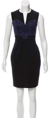 Black Halo Lace Accented Mini Dress