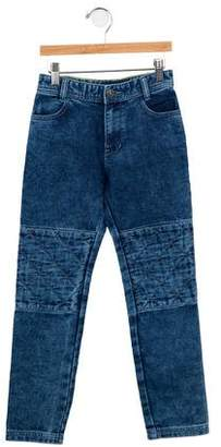 Little Marc Jacobs Boys' Acid Wash Straight-Leg Jeans w/ Tags