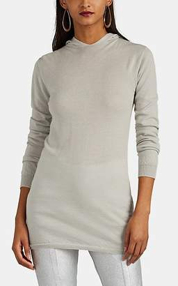 Rick Owens Women's Cashmere Hooded Sweater - Light Gray