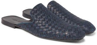 Bottega Veneta Intrecciato Leather Backless Slippers