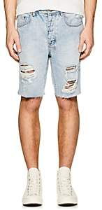 Ksubi Men's Axel Distressed Denim Shorts - Blue