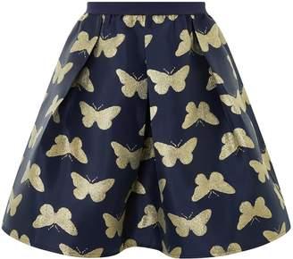 Monsoon Butterfly Jacquard Skirt