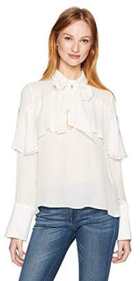 Cynthia Rowley Women's Silk Georgette Top
