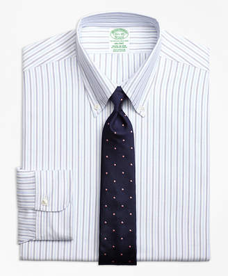 Brooks Brothers Original Polo Button-Down Oxford Milano Slim-Fit Dress Shirt, Alternating Bengal Stripe