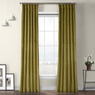 Eff EFF 1-Panel Heritage Plush Velvet Curtain