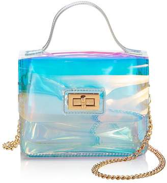 Aqua Mini Turn-Lock Shoulder Bag - 100% Exclusive