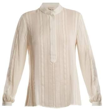 Zeus + Dione - Hera Striped Raw Silk Shirt - Womens - Ivory
