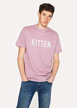 Paul Smith R.E.M. + Pink Marl 'Kitten' Print T-Shirt