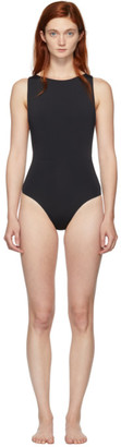 Haight Black Side Slide One-Piece Swimsuit